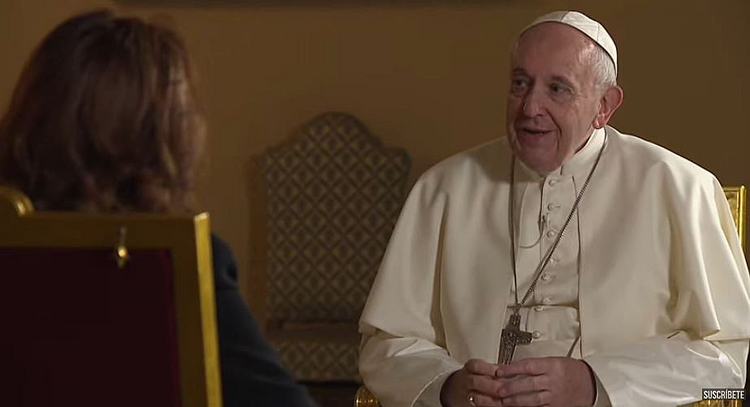 Pope Francis in an interview