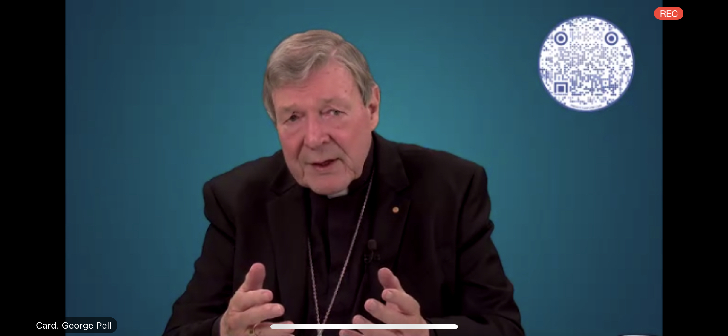 Cardinal Pell addressing January 2021 webinar